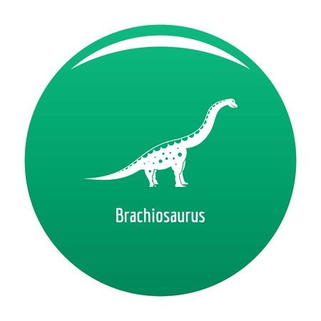 Brachiosaurus icon. Simple illustration of brachiosaurus icon for any design green