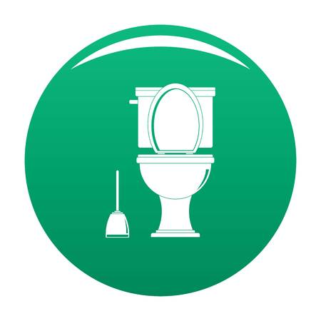 Comfort toilet icon. Simple illustration of comfort toilet icon for any design green Stock Photo