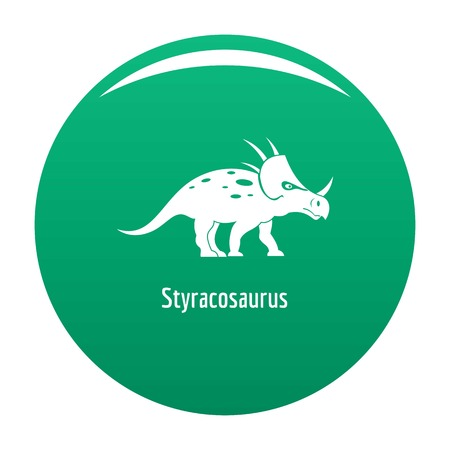 Styracosaurus icon. Simple illustration of styracosaurus vector icon for any design green Illustration