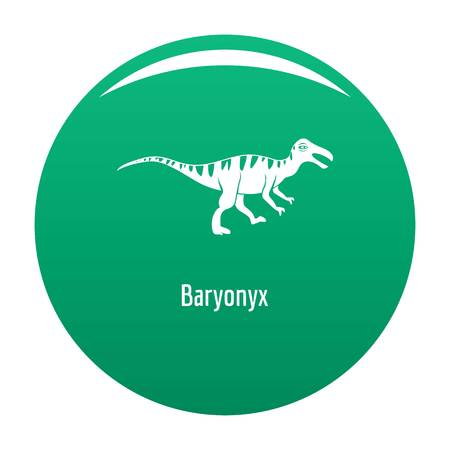 Baryonyx icon. Simple illustration of baryonyx vector icon for any design green