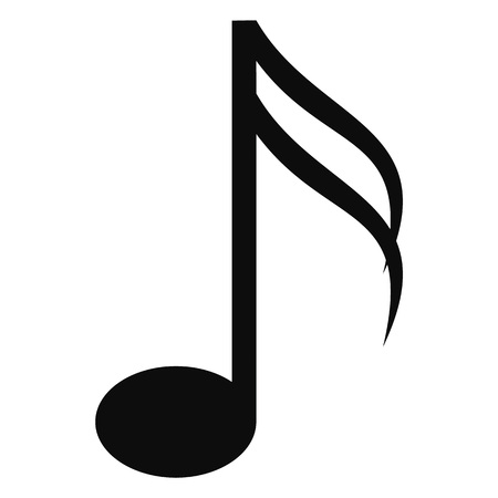 Sixteenth music note icon, simple style