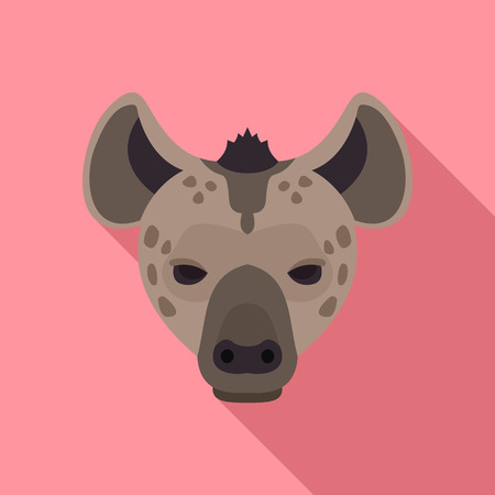 Hyena icon, flat style Banque d'images