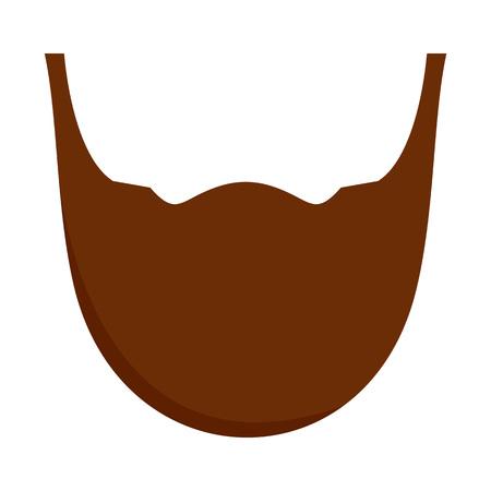 Man beard icon, flat style