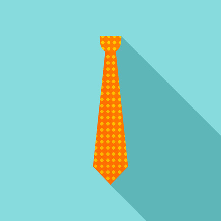 Necktie icon, flat style Foto de archivo