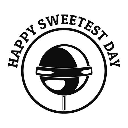 Happy sweet day logo, simple style Banco de Imagens