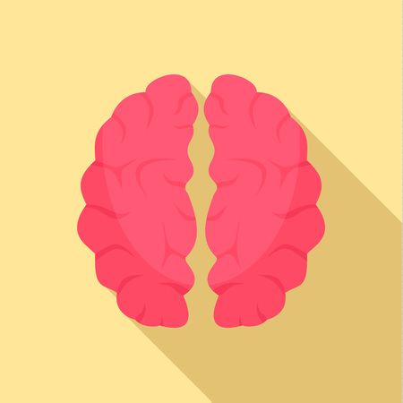 Artificial brain icon, flat style