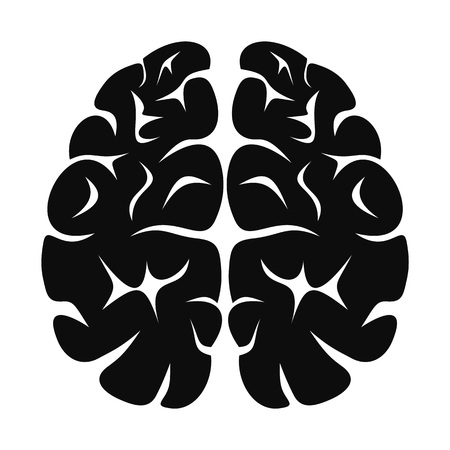 Brain neurons icon, simple style