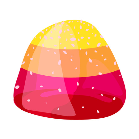 Jelly bonbon icon, cartoon style