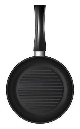 Griddle icon, realistic style