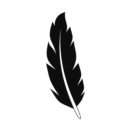 Peacock feather icon. Simple illustration of peacock feather vector icon for web design isolated on white background Çizim