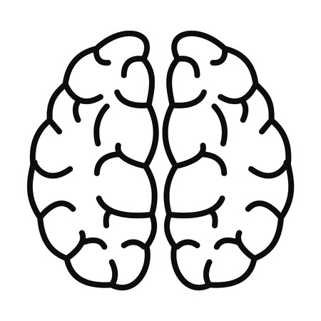 Brain neurons icon. Outline brain neurons vector icon for web design isolated on white background