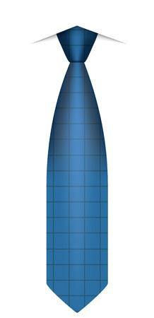 Icono de corbata azul. Ilustración realista de icono de vector de corbata azul para diseño web aislado sobre fondo blanco