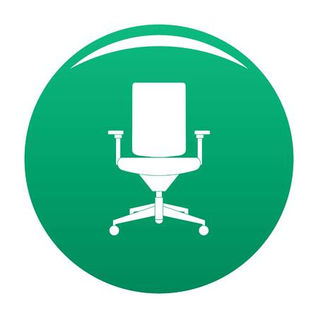 Comfortable armchair icon vector green
