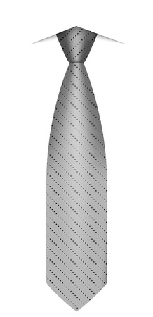 Grey tie icon. Realistic illustration of grey tie vector icon for web design isolated on white background