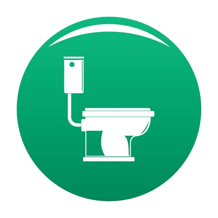 Toilet icon. Simple illustration of toilet vector icon for any design green