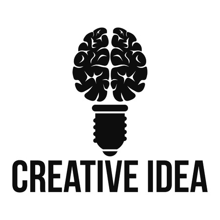 Mental creative idea logo, simple style