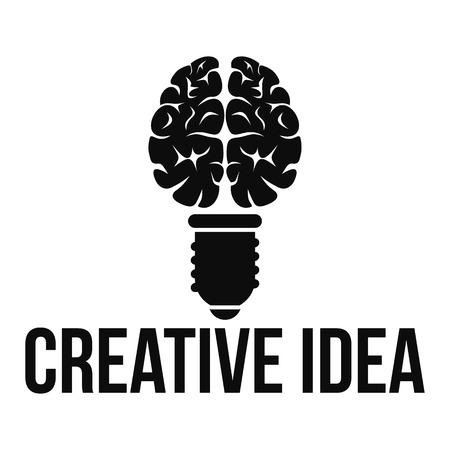Mental creative idea logo, simple style