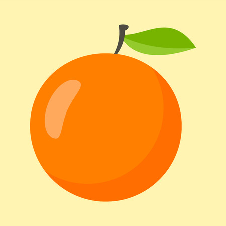 Orange icon, flat style Stock Illustratie