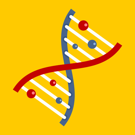 Dna icon, flat style