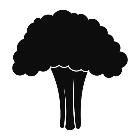 Salad broccoli icon, simple style Stock Illustratie