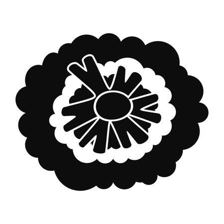 Gezondheid broccoli pictogram, eenvoudige stijl