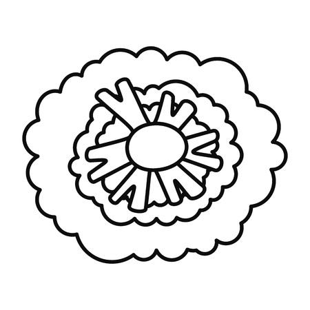Health broccoli icon, outline style