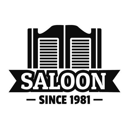 Logo de porte de salon, style simple