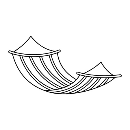Hammock icon. Outline hammock vector icon for web design isolated on white background
