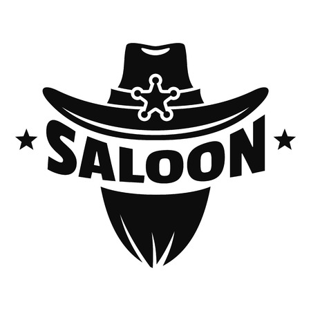 Saloon texas hat logo, simple style Foto de archivo - 109395270
