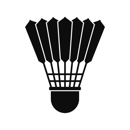 Shuttle birdie icon, simple style