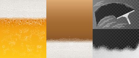 Ensemble de bannière en mousse à bulles, style réaliste