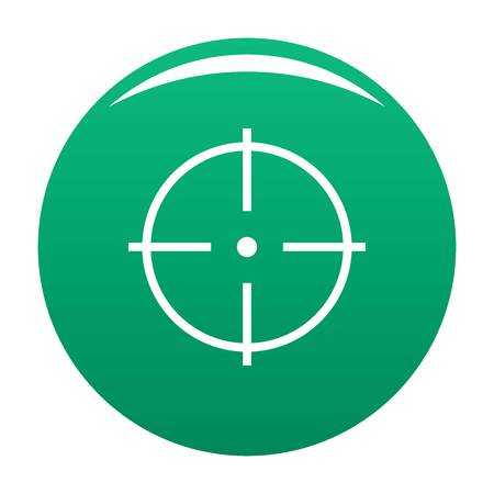 Selection of target icon vector green