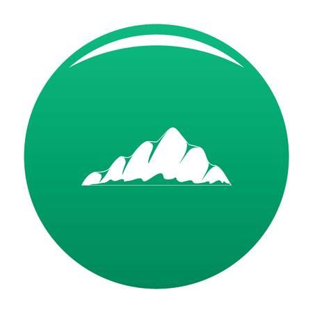 Mountain landscape icon vector green