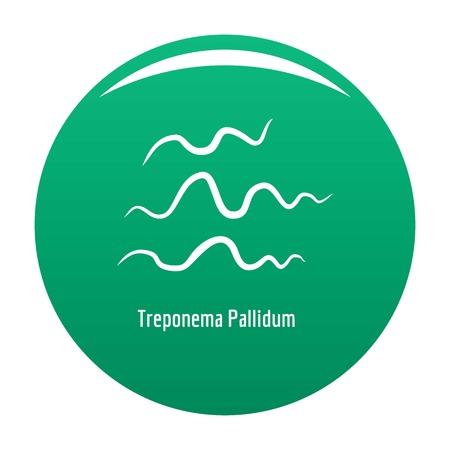 Treponema Pallidum icon vector green
