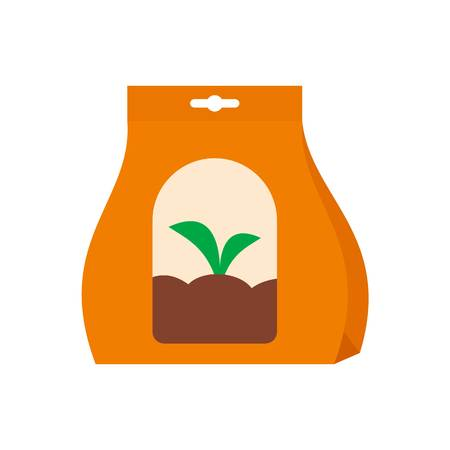 Plant seeds icon, flat style