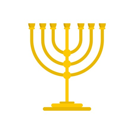 Gold stand for candle icon, flat style