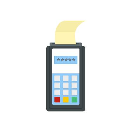 Payment by credit card icon, flat style