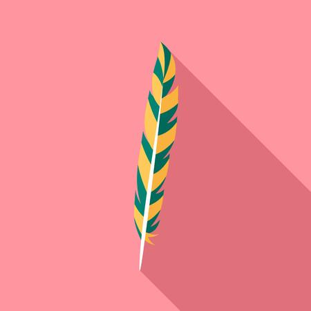 Design feather icon, flat style Illusztráció