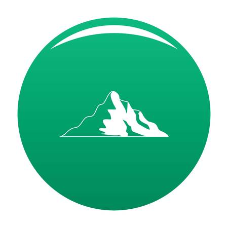 Snow mountain icon vector green Banco de Imagens - 109141862