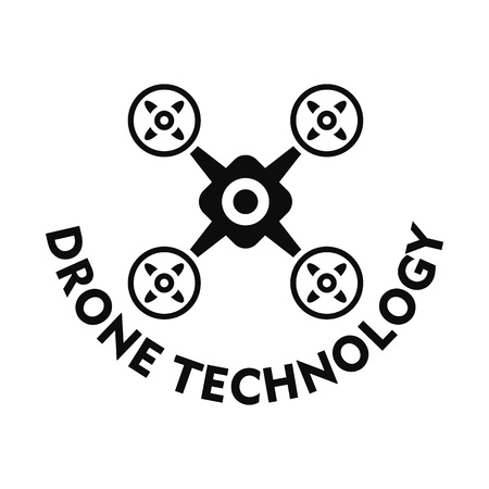Drone technology. Simple illustration of drone technology vector for web design isolated on white background