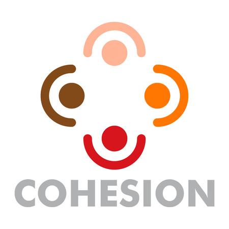 Cohesion. Flat illustration of cohesion vector for web design Archivio Fotografico - 109373301