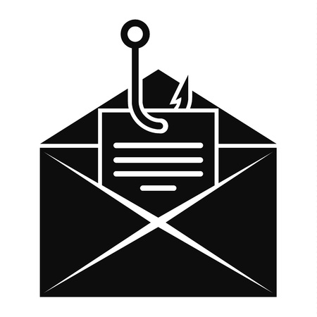 Phishing personal mail icon, simple style