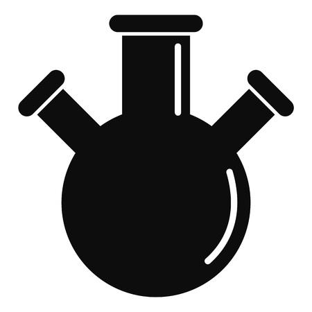 Icône de ballon triple. Illustration simple de l'icône vecteur triple flacon pour la conception web isolé sur fond blanc