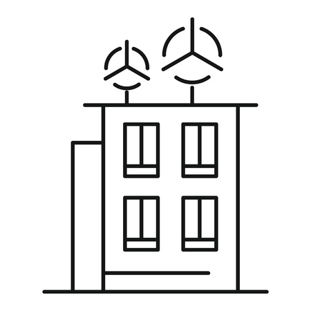 Intelligent building icon, outline style