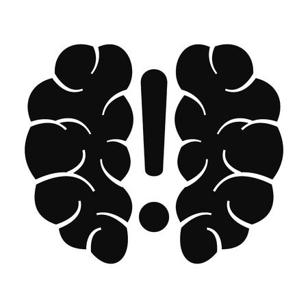Brain solution icon, simple style