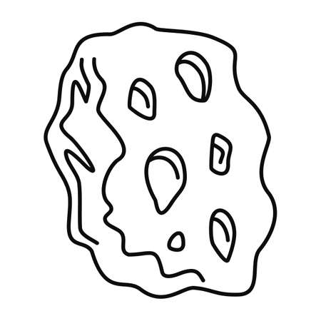 Space asteroid icon, outline style Illustration
