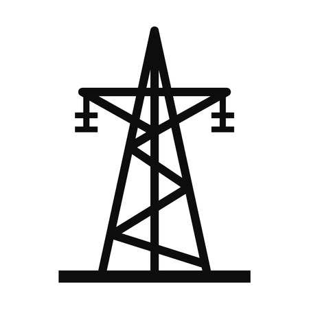 Energy electric tower icon. Simple illustration of energy electric tower vector icon for web design isolated on white background Vettoriali
