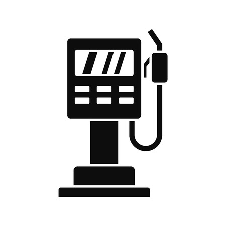 Fuel pump station icon, simple style