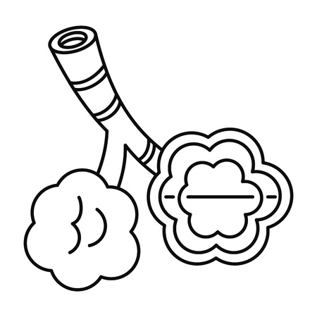 Alveolus disease icon, outline style