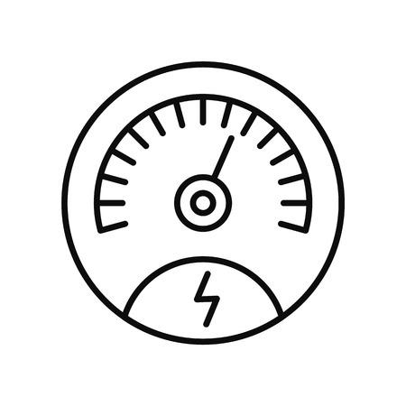Guardar icono de panel de energía, estilo de contorno